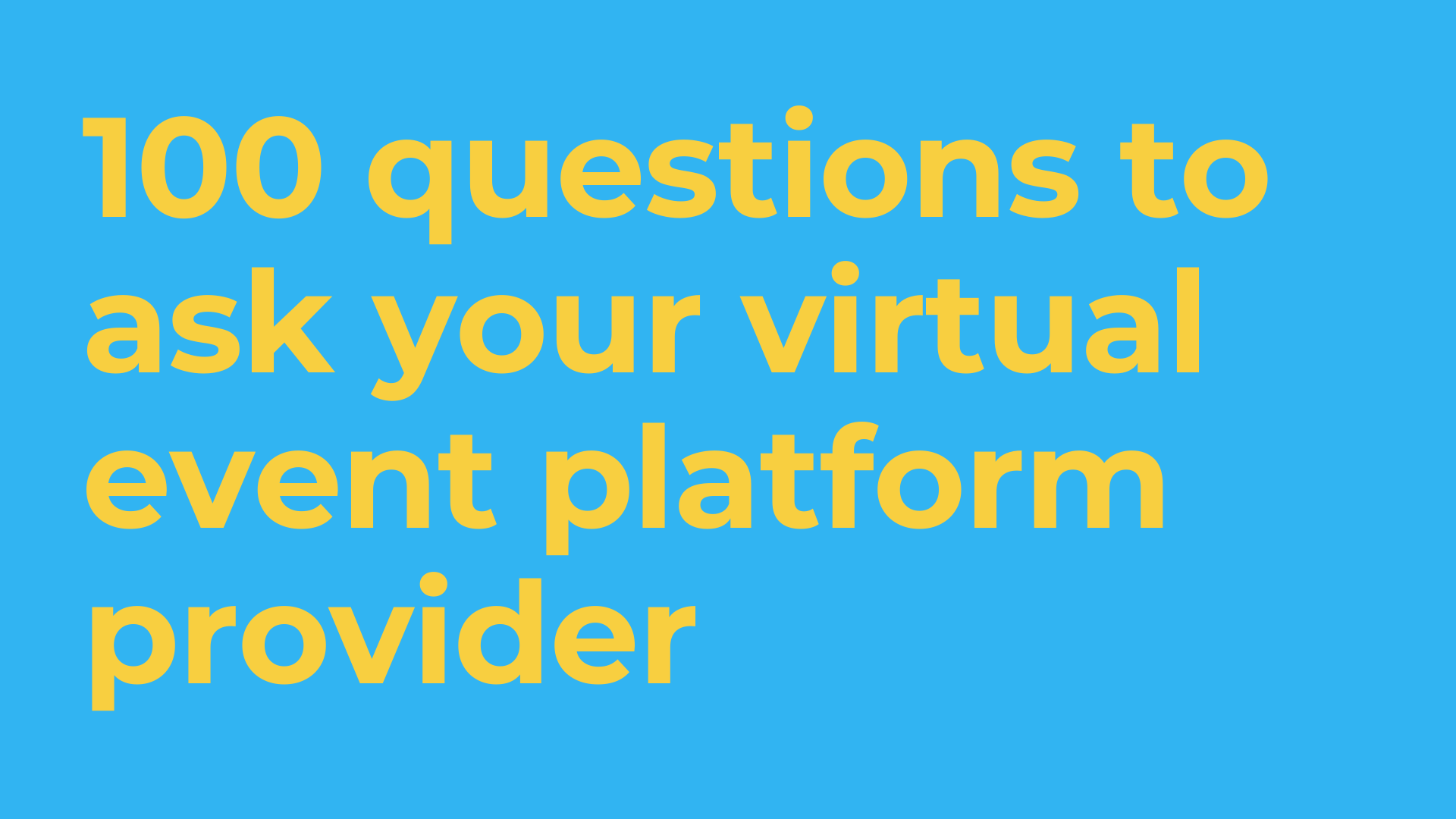 questions for a virtual event platform